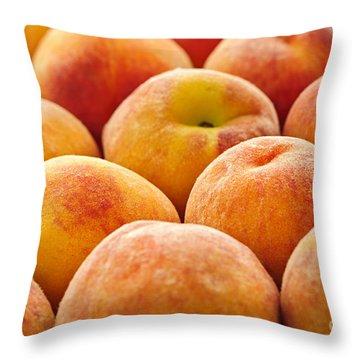Peaches Throw Pillow by Elena Elisseeva