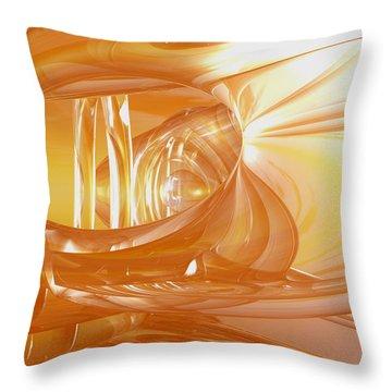 Peaches N' Cream Throw Pillow by Joshua Thompson
