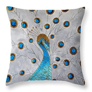 Peacock And Its Beauty Throw Pillow by Sonali Kukreja