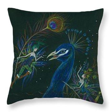 Peacock Dearest Throw Pillow