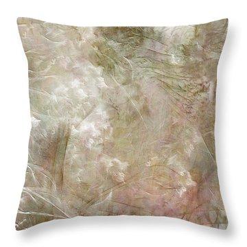 Peacock Gardens Throw Pillow