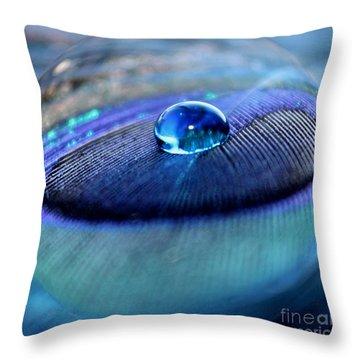 Peacock Globe Throw Pillow