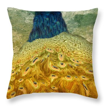 Peacock Throw Pillow by Jack Zulli
