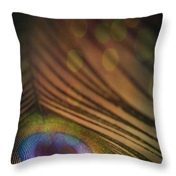 Peacock Party Throw Pillow