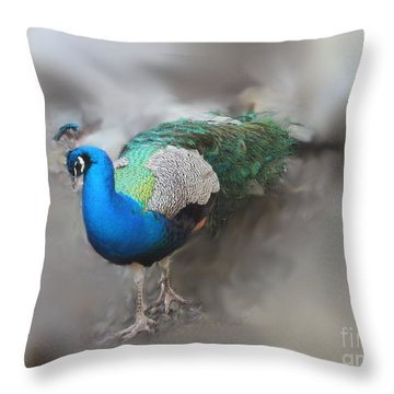 Peacock2 Throw Pillow