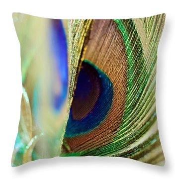 Peacocks Dance The Samba Throw Pillow by Lisa Knechtel