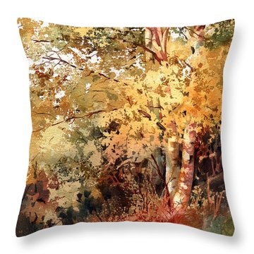 Peak Color Throw Pillow