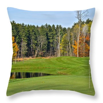 Peak N Peak Resort Throw Pillow by Frozen in Time Fine Art Photography