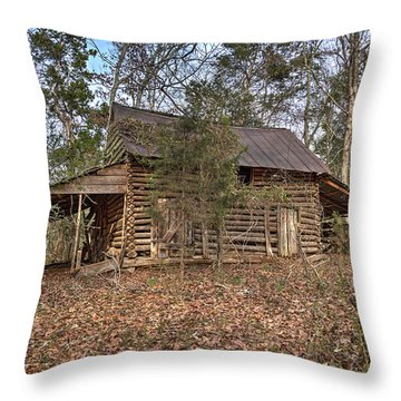 Peak Ruins-2 Throw Pillow