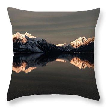 Peaks Throw Pillow by Aaron Aldrich