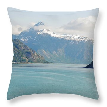Peaks In Glacier Bay Throw Pillow