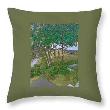 Dawn At Peaks Island Bay Throw Pillow by Nick Heap