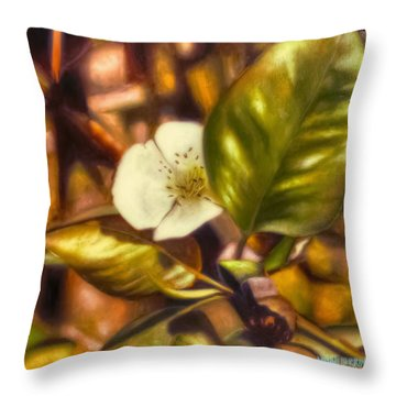 Pear Blossom Throw Pillow