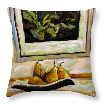 Pear Ilous Times Throw Pillow by Charlie Spear