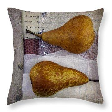 Pear Pair Throw Pillow