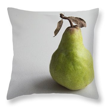 Pear Still Life Protrait Throw Pillow