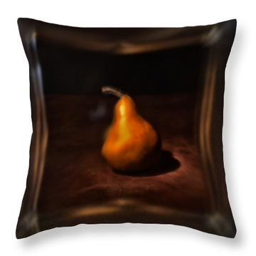 Pear Under Glass Throw Pillow