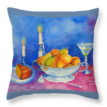 Pearis By Candlelight  Throw Pillow