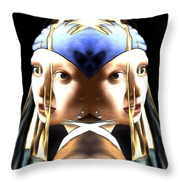 Pearl Earring Pearl Throw Pillow