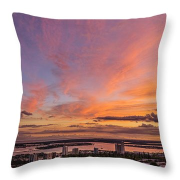 Throw Pillow featuring the photograph Pearl Harbor At Sunset by Aloha Art