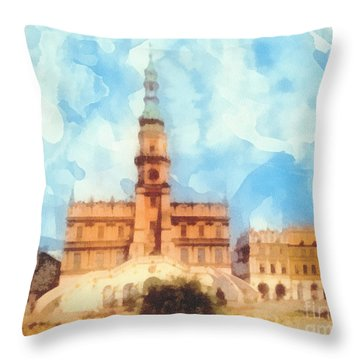 Pearl Of Renaissance Throw Pillow by Mo T
