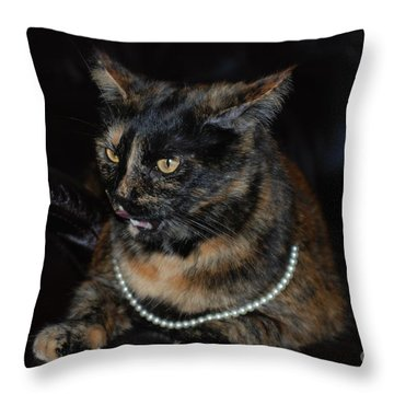 Throw Pillow featuring the photograph Pearl  by Oksana Semenchenko
