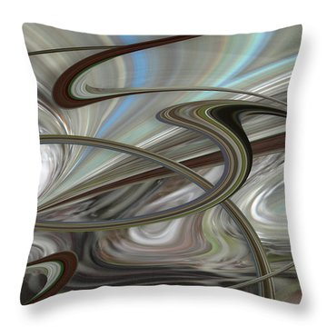 Pearl Swirl Throw Pillow by Ginny Schmidt