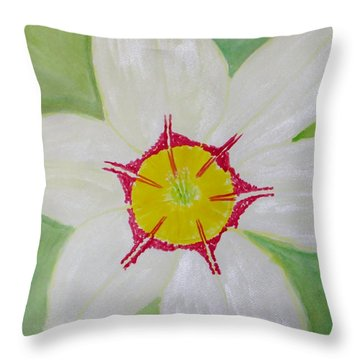 Pearl White Flower Throw Pillow by Sonali Gangane