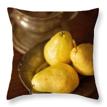 Pears And Great Grandpa's Silver Throw Pillow