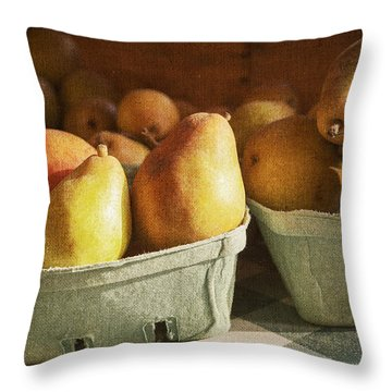 Pears Throw Pillow by Caitlyn  Grasso