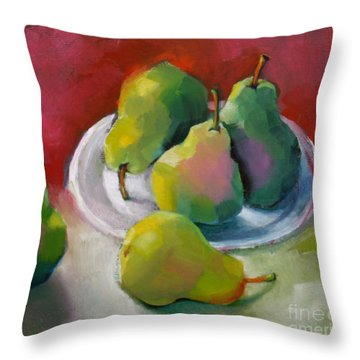 Pears Throw Pillow by Michelle Abrams