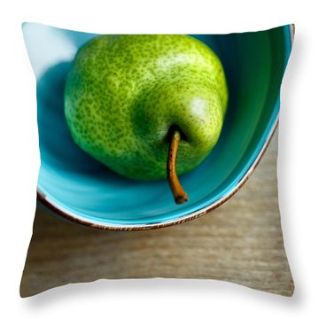 Pears Throw Pillow by Nailia Schwarz