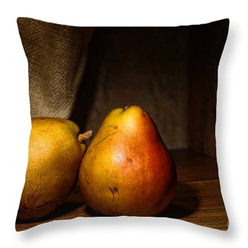 Pears Throw Pillow by Olivier Le Queinec