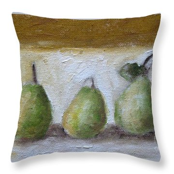 Pears Throw Pillow by Venus