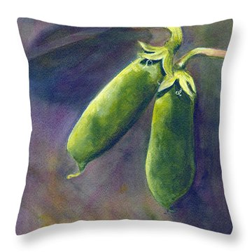 Peas On The Vine Throw Pillow