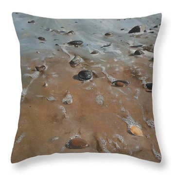 Pebbles Throw Pillow by Cherise Foster