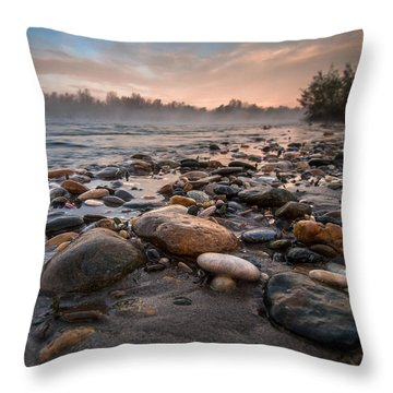 Pebbles Throw Pillow by Davorin Mance