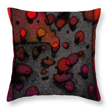 Pebbles On An Alien Beach Throw Pillow