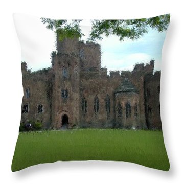Peckforton Castle Throw Pillow by Bruce Nutting