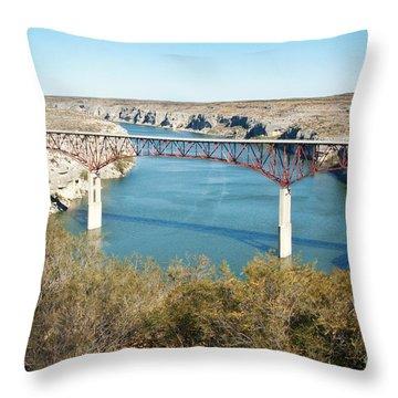 Throw Pillow featuring the photograph Pecos Bridge by Erika Weber