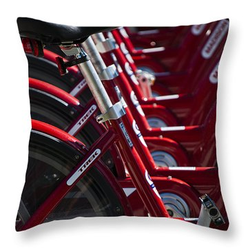 Pedal Power Throw Pillow
