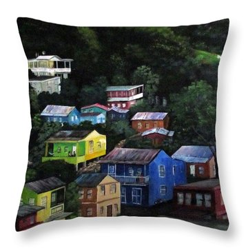 Pedazito De Yauco Cerro Throw Pillow by Luis F Rodriguez