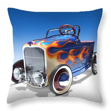 Throw Pillow featuring the photograph Peddle Car by Mike McGlothlen