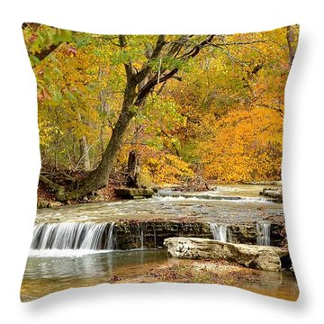 Throw Pillow featuring the photograph Pedelo Falls by Deena Stoddard