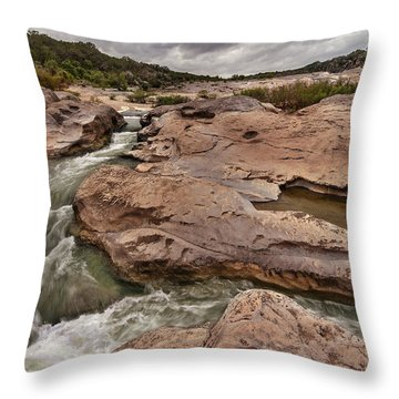 Pedernales Falls Throw Pillow