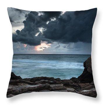 Pedra Que Bole Throw Pillow by Edgar Laureano