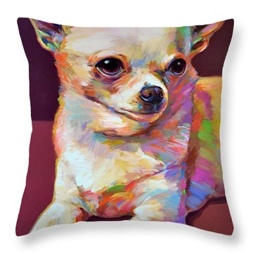 Throw Pillow featuring the painting Pedro by Robert Phelps