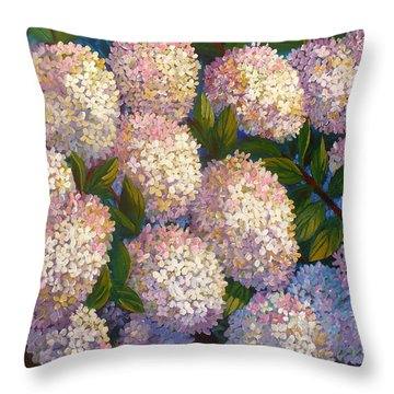 Peegee Hydrangeas Throw Pillow