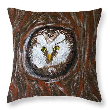 Peek A Boo Throw Pillow by Lloyd Alexander