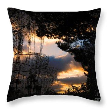 Peek A Boo Sunset Throw Pillow